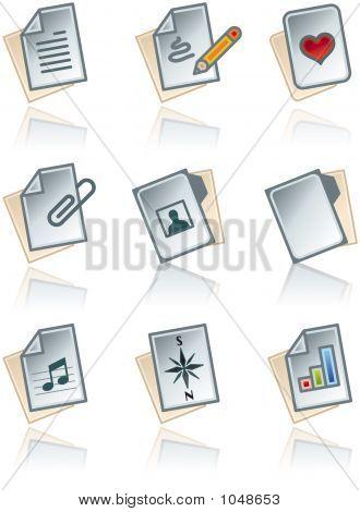 Elementos de design 43A. Conjunto de ícones de obras de papel