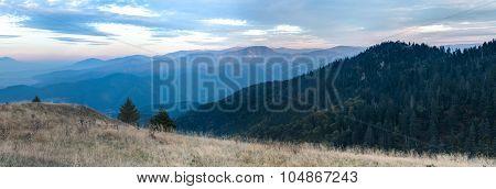 Evening Panorama Of Mountains