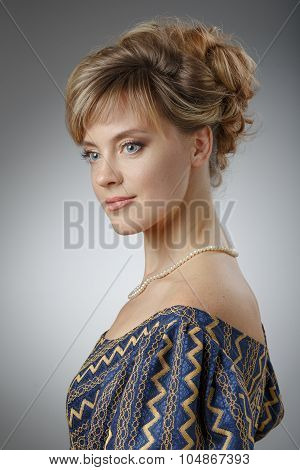 Portrait Of A Beautiful Woman. Natural Beauty.