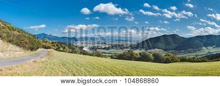 Panorama Of Slovakia Mountain Countryside