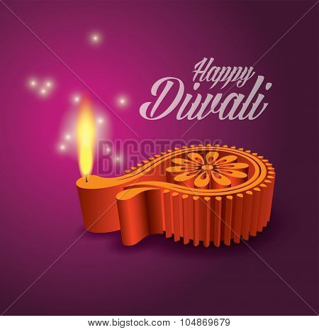 Diwali Diya Vector (Oil Lamp)