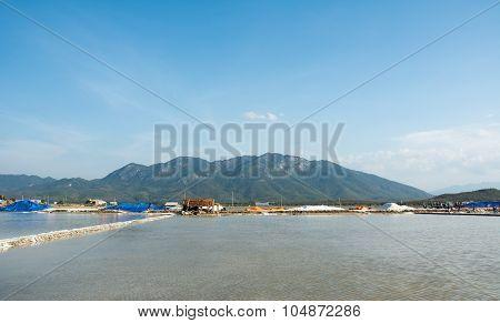 Salt Fields In Nha Trang, Vietnam