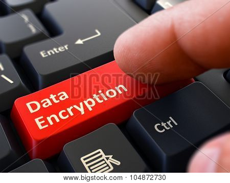 Data Encryption - Clicking Red Keyboard Button.