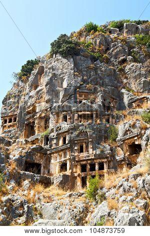 Myra In Turkey Europe Old   Tomb Stone