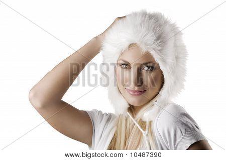 Winter Portrait With Fur Hat