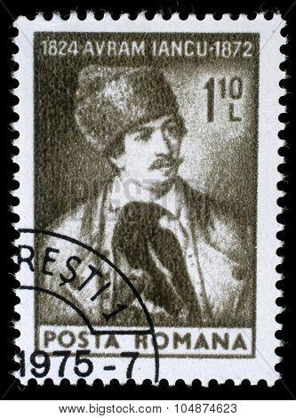 ROMANIA - CIRCA 1974: A stamp printed in Romania shows Avram Iancu, circa 1974