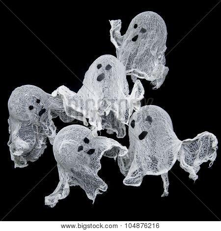 Halloween Ghosts Gauze