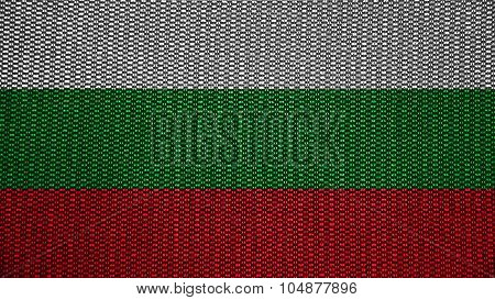 Flag of Bulgaria, Bulgarian flag painted on texture with stitches