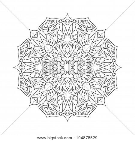 Mandala. Floral ethnic abstract decorative elements