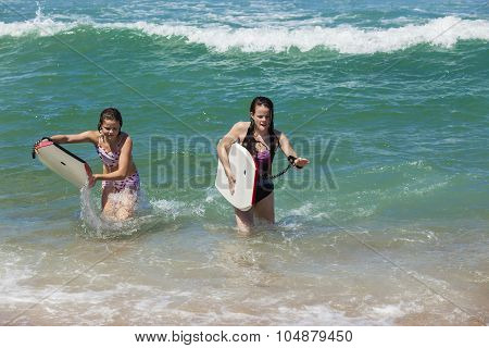 Girls Boards Beach