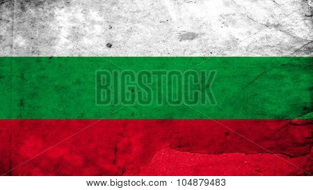 Flag of Bulgaria, Bulgarian flag painted on plywood texture