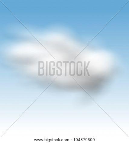 Background Blue Sky Fluffy Clouds
