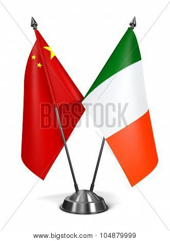 China and Ireland - Miniature Flags.
