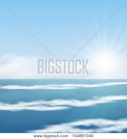 Sea Landscape Sunrise surf Ocean