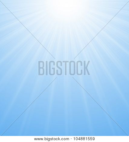 Abstract Blue Background Sunburst Vibrant