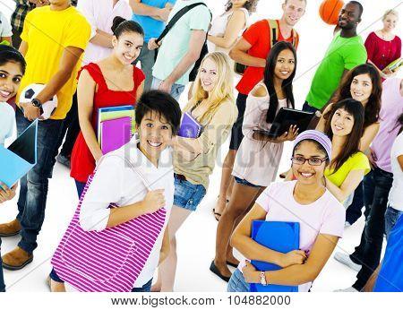 Multiethnic Social Gathering Community Happiness Concept