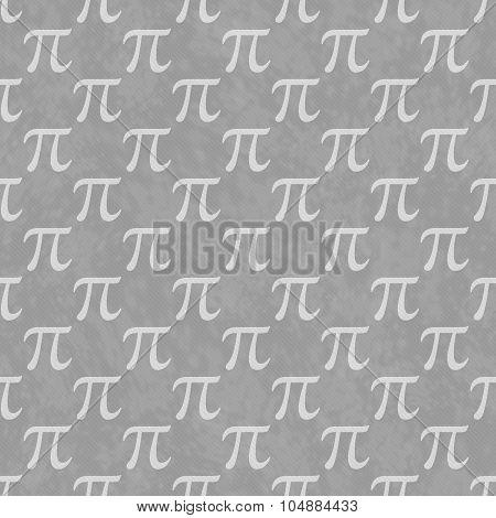 Gray Pi Symbol Design Tile Pattern Repeat Background