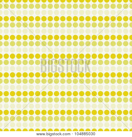Yellow And White Polka Dot  Abstract Design Tile Pattern Repeat Background