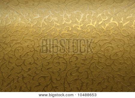 Patrón oro brocado floral