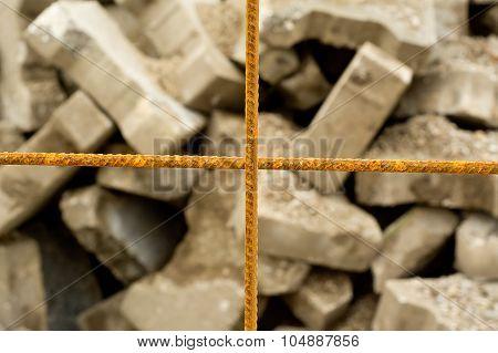 Rusted Steel Mesh