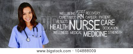 Female nurse ready to give medical attention