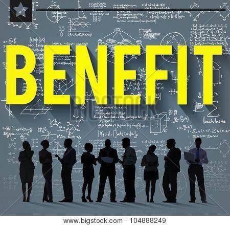 Benefit Income Profit Advantage Welfare Concept