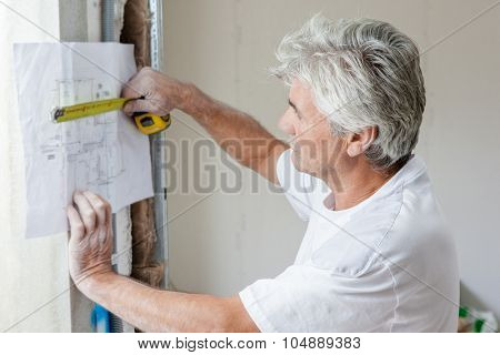 Mason measuring plans