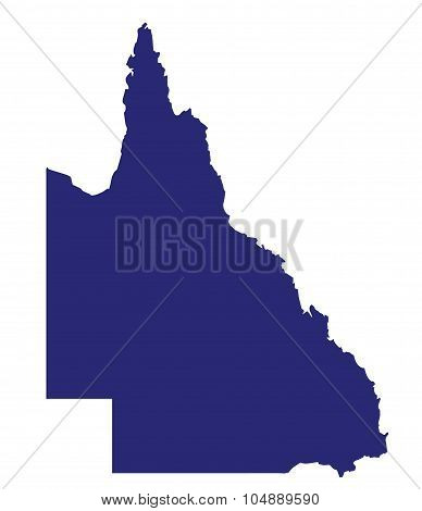 Queensland State Silhouette