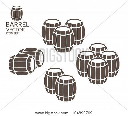 Barrel. Icon set
