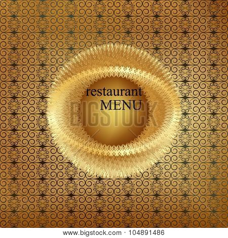 Vintage Menu Cover Gold 5