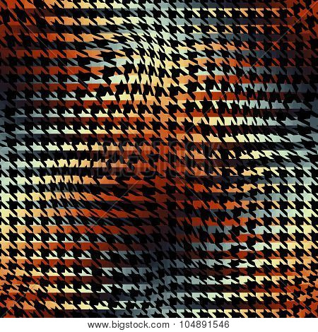 Houndstooth background pattern.