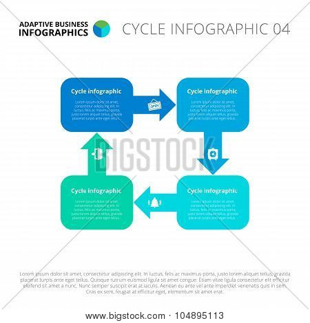 Cycle infographics template 4