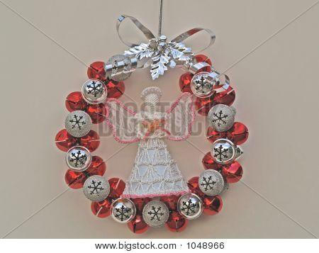 Angel In Christmas Wreath