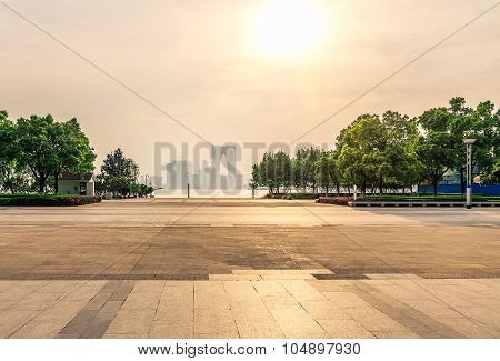 Suzhou Jinji Lake Public Leisure Square And City Building