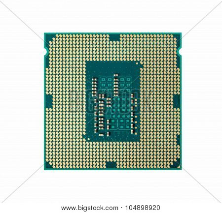 Electronic Collection - Computer Processor Chip (cpu) Isolated On White Background