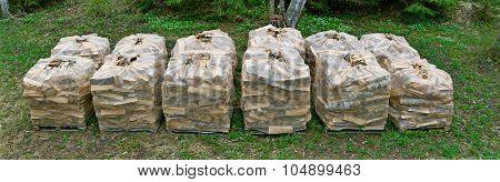 Firewood In Packaging Net.