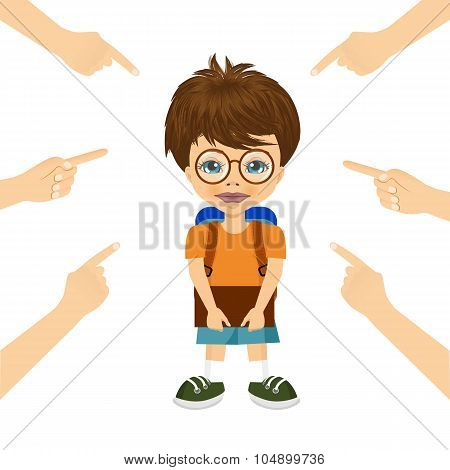 teenager boy being accused with fingers