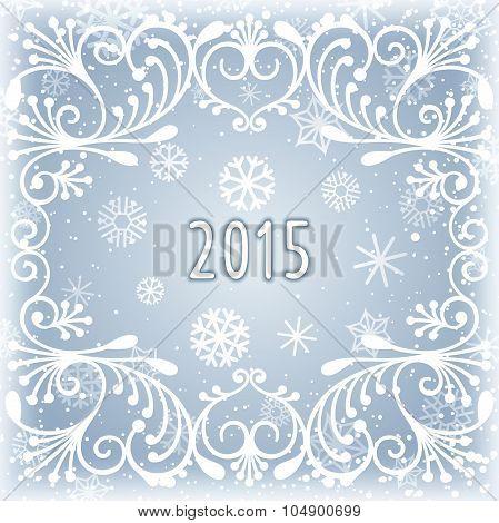 Winter frosty background