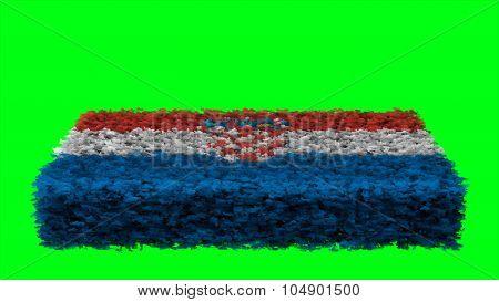Flag of Croatia, Croatian flag made from clouds