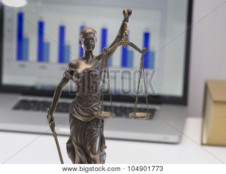 Legal law office symbol - scales of justice