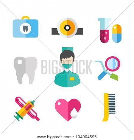Medicine vector icons set. Doctors tools for health care. Medic first help, hospital tools icons. Vector helthcare icons set. Heart, doctor, tooth icon, medicine, pills, health and medical. Health