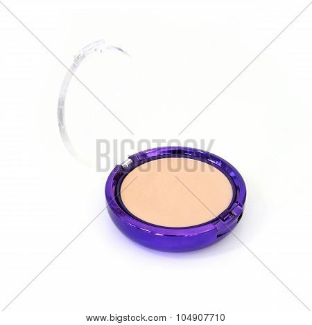 Face Powder Isolated On White Background