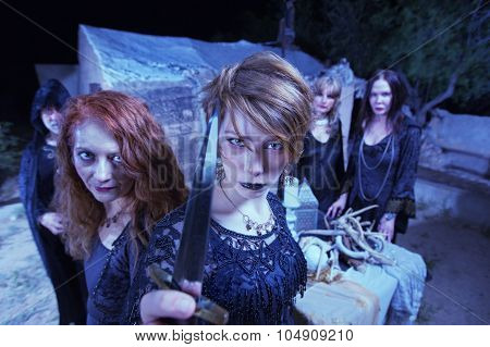 Group Of Threatening Witches
