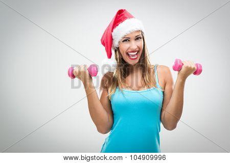 Christmas Fitness Woman