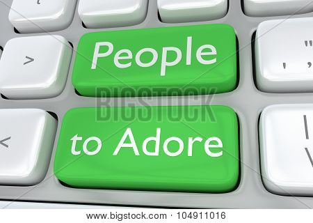 People To Adore Concept