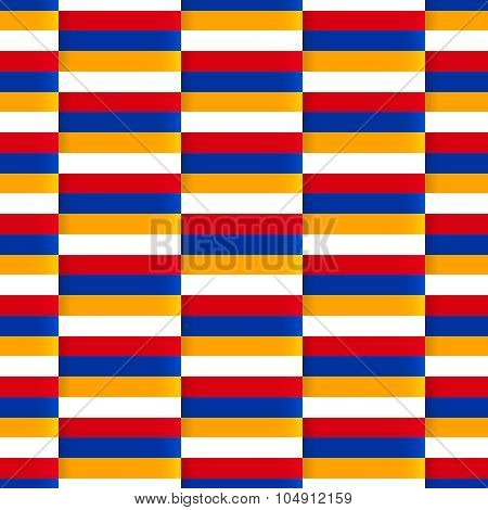 Seamless vector pattern with flag of Armenia.