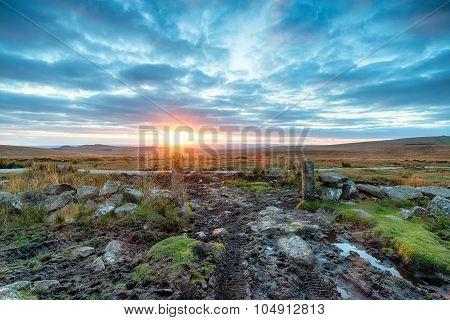 Dramatic Sunset Over Dartmoor
