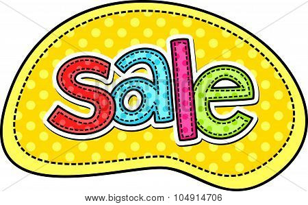 Sale Stitch Text Label