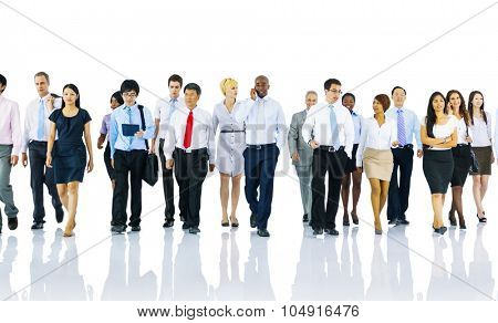 Multi-ethnic Officer Workers Success Teamwork Unity Concept