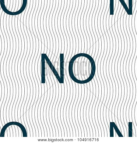 Norwegian Language Sign Icon. No Norway Translation Symbol. Seamless Pattern With Geometric Texture.